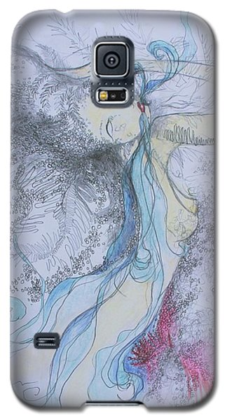 Blue Smoke And Mirrors Galaxy S5 Case by Marat Essex