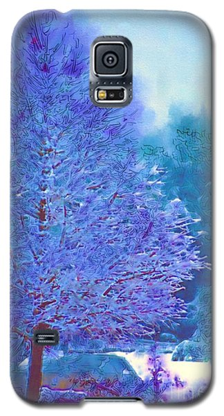 Blue Snow Scene Galaxy S5 Case