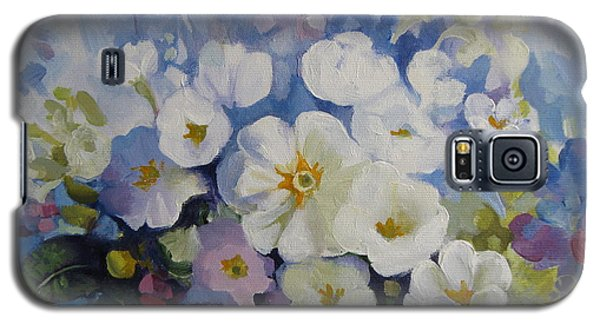 Galaxy S5 Case featuring the painting Blue Spring by Elena Oleniuc