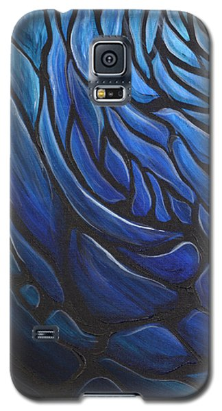 Blue Stained Glass Galaxy S5 Case
