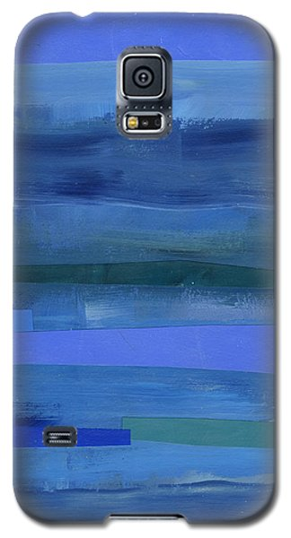 Blue Stripes 1 Galaxy S5 Case