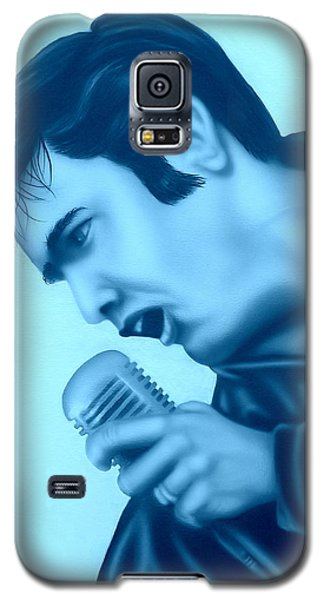 Galaxy S5 Case featuring the painting Blue Suede Shoes by Darren Robinson