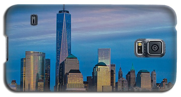Blue Sunset At The World Trade Center Galaxy S5 Case