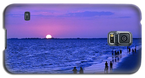 Blue Sunset On The Gulf Of Mexico At Fort Myers Beach In Florida Galaxy S5 Case