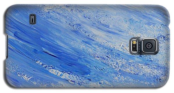 Galaxy S5 Case featuring the painting Blue by Teresa Wegrzyn