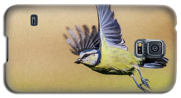 Blue Tit In Flight Galaxy S5 Case