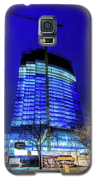 Galaxy S5 Case featuring the photograph Blue Tower Rising by Randy Scherkenbach