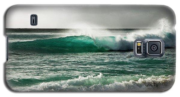 Blue Translucent Wave Galaxy S5 Case
