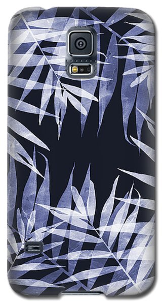 Blue Tropical Leaves Galaxy S5 Case