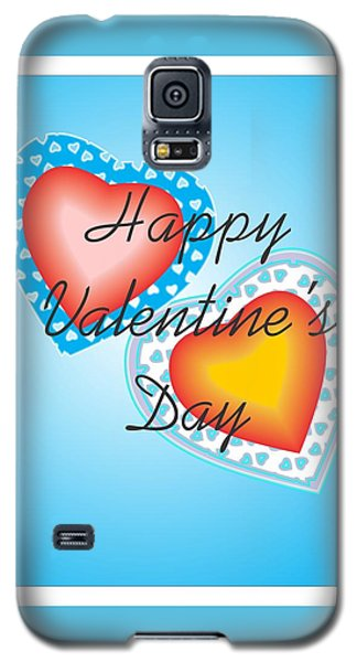 Blue Valentine Lace  Galaxy S5 Case by Sherril Porter
