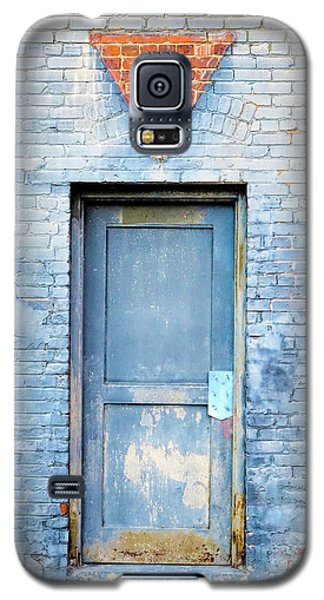 Galaxy S5 Case featuring the photograph Blue Wall Blue Door by Denise Beverly