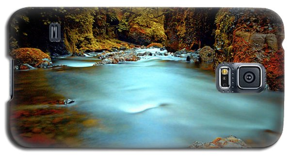 Blue Water And Rusty Rocks Signed Galaxy S5 Case
