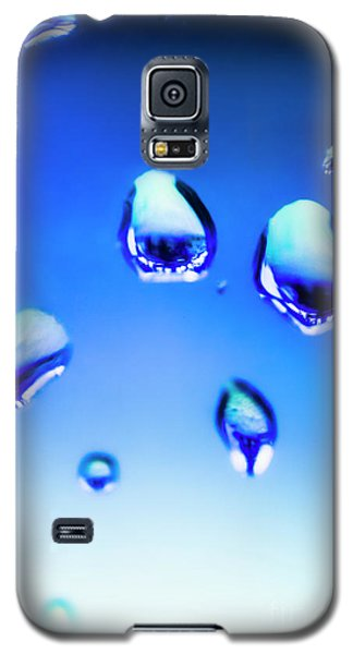 Blue Water Droplets On Glass Galaxy S5 Case