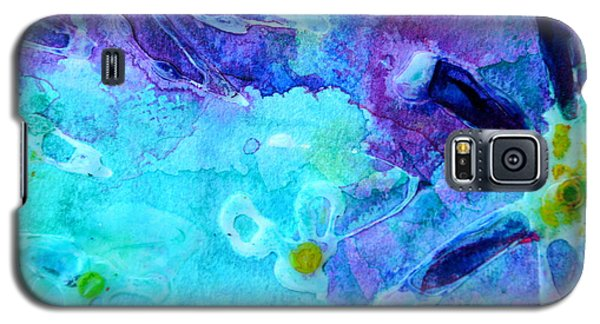 Blue Water Flower Galaxy S5 Case