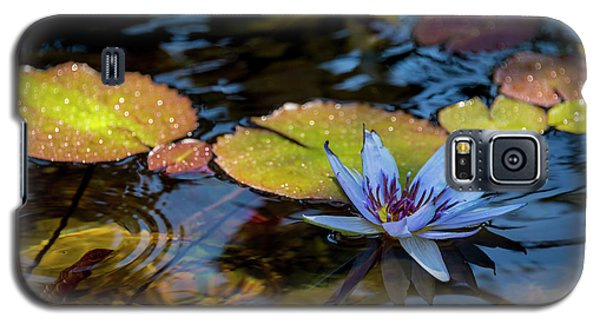 Blue Water Lily Pond Galaxy S5 Case by Brian Harig