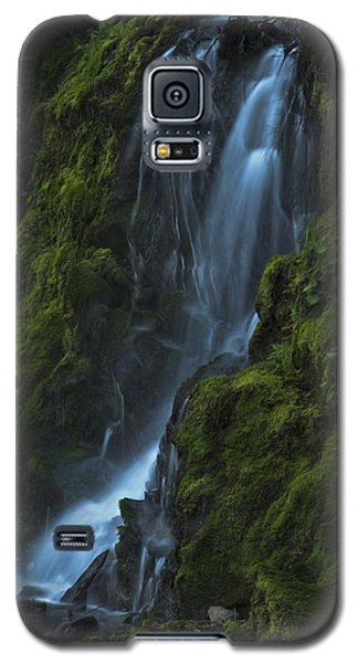 Galaxy S5 Case featuring the photograph Blue Waterfall by Yulia Kazansky