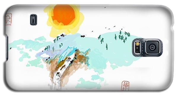 Blue Waterfalll Galaxy S5 Case