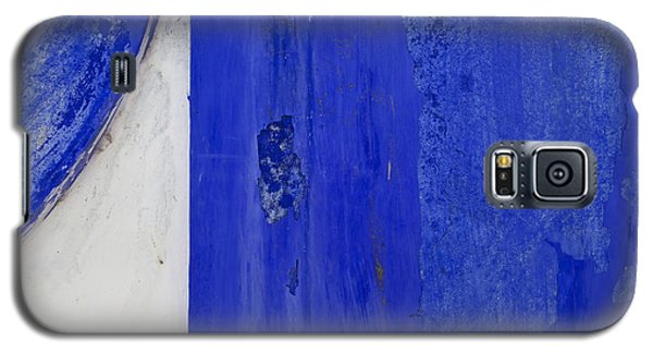 Blue Weathered Wall Of Old World Europe Galaxy S5 Case