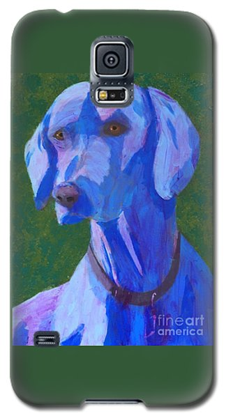 Blue Weimaraner Galaxy S5 Case