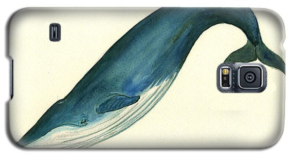 Whale Galaxy S5 Case - Blue Whale Painting by Juan  Bosco