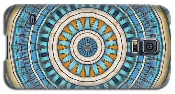 Galaxy S5 Case featuring the digital art Blue Wheeler 1 by Wendy J St Christopher
