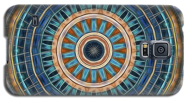 Galaxy S5 Case featuring the digital art Blue Wheeler 2 by Wendy J St Christopher