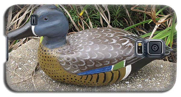 Galaxy S5 Case featuring the sculpture Blue-winged Duck by Kevin F Heuman