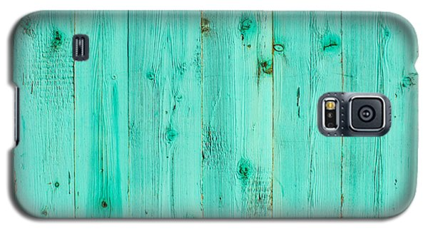 Galaxy S5 Case featuring the photograph Blue Wooden Planks by John Williams