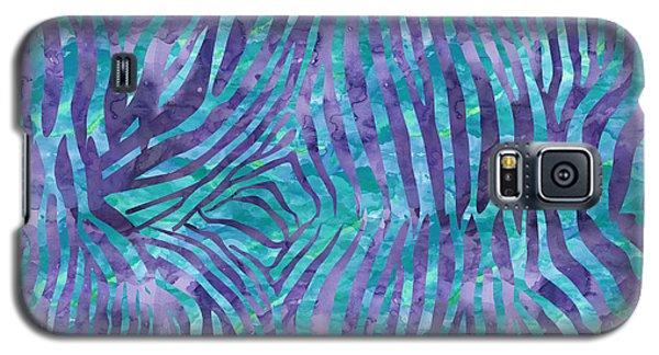 Blue Zebra Print Galaxy S5 Case