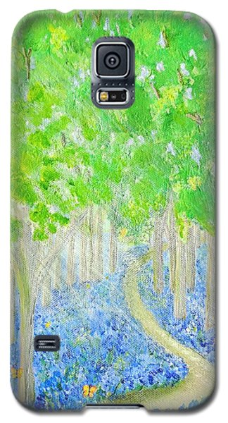 Bluebell Wood With Butterflies Galaxy S5 Case