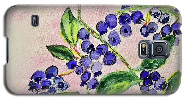 Galaxy S5 Case featuring the painting Blueberries by Kim Nelson