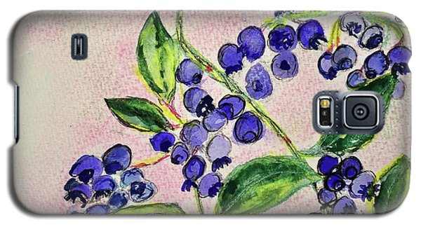 Blueberries Galaxy S5 Case by Kim Nelson