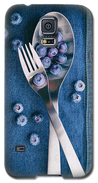 Blueberries On Denim II Galaxy S5 Case