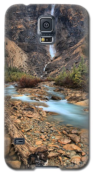 Galaxy S5 Case featuring the photograph Blueberry Blue Waters Under Takakkaw Falls by Adam Jewell
