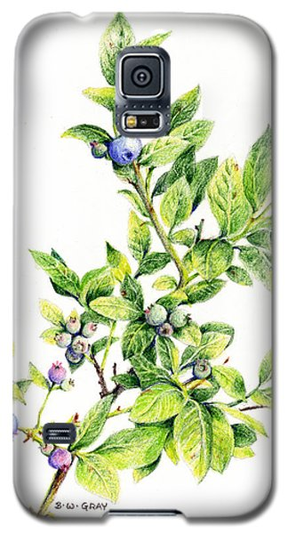 Blueberry Branch Galaxy S5 Case
