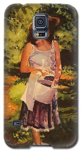 Blueberry Girl Galaxy S5 Case