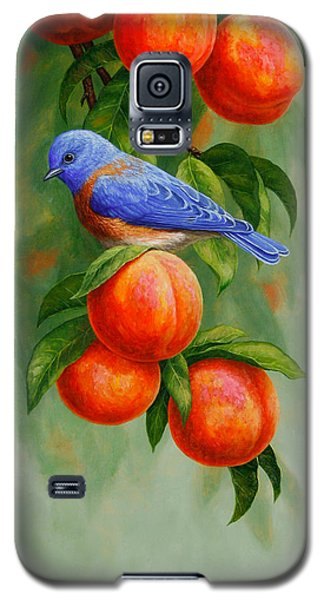 Bluebird And Peaches Iphone Case Galaxy S5 Case by Crista Forest