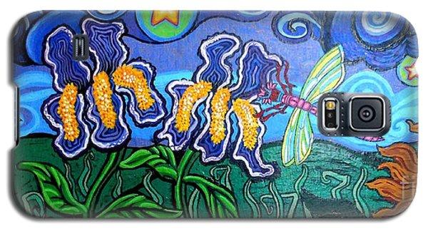 Bluebird Dragonfly And Irises Galaxy S5 Case