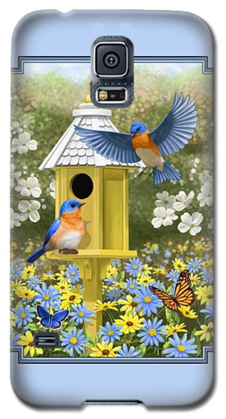 Bluebird Garden Home Galaxy S5 Case by Crista Forest