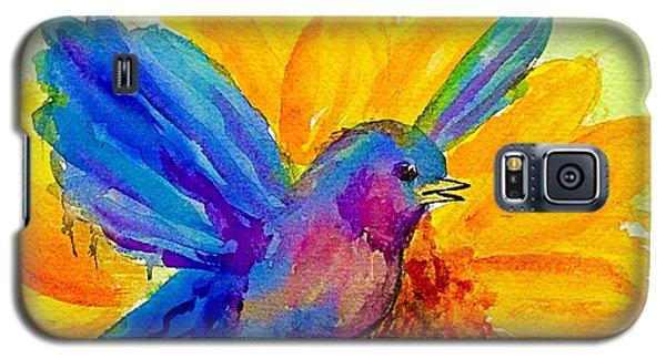 Bluebird On Sunflower  Galaxy S5 Case