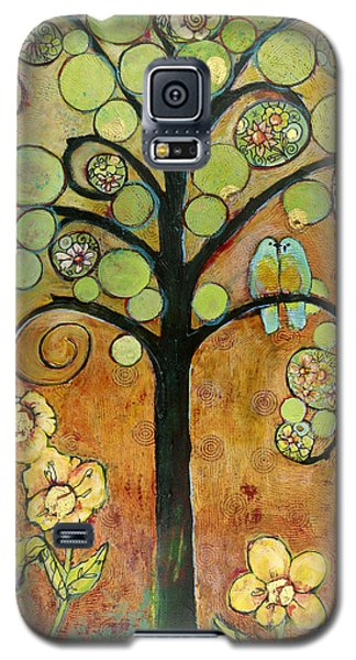 Bluebirds In Paradise Tree Galaxy S5 Case by Blenda Studio