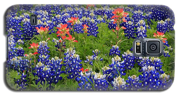 Bluebonnet Indian Painbrush Galaxy S5 Case by Jerry Bunger