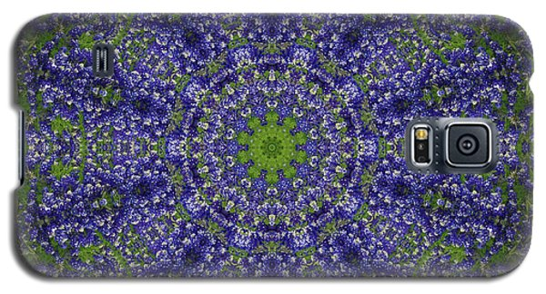 Bluebonnet Lace Kaleidoscope Galaxy S5 Case by Robyn Stacey