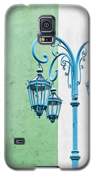 Blue,green And White Galaxy S5 Case