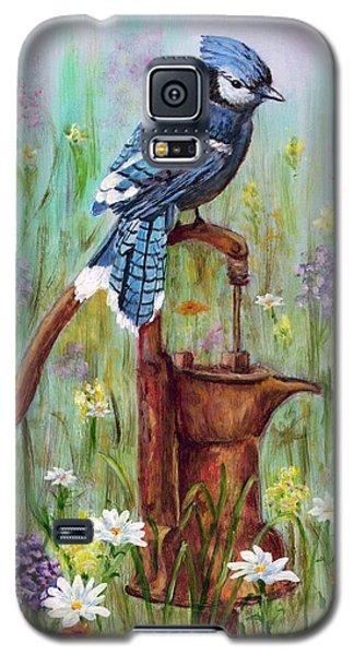 Bluejay Peaceful Perch Galaxy S5 Case by Judy Filarecki