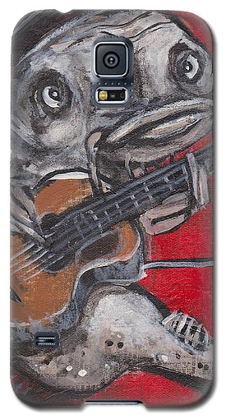 Blues Cat On Guitar Galaxy S5 Case