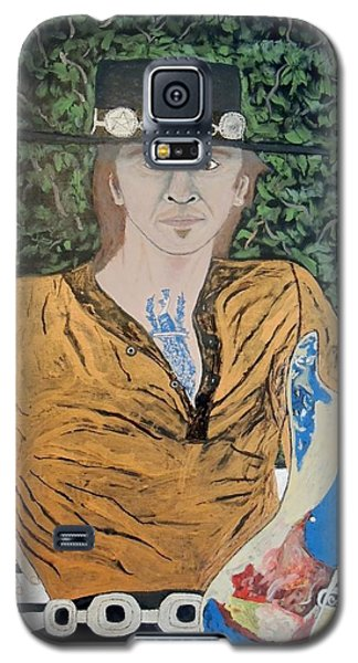 Galaxy S5 Case featuring the painting Blues In The Park With Stevie Ray Vaughan. by Ken Zabel