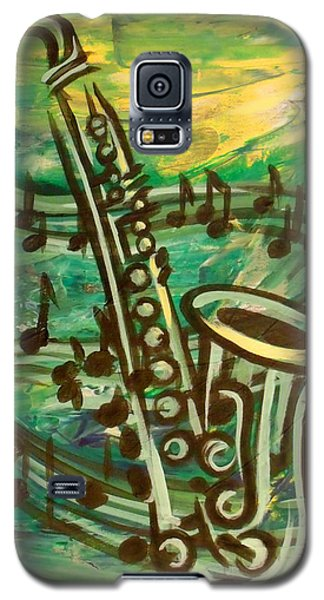 Blues Solo In Green Galaxy S5 Case by Evie Cook
