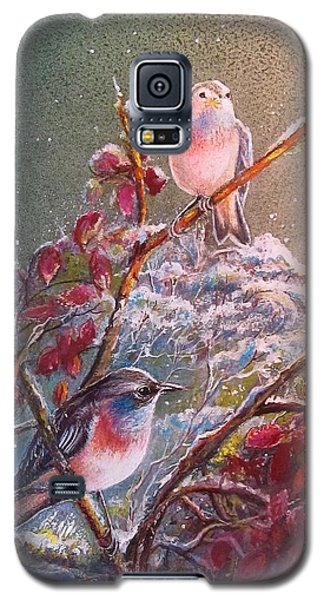 Bluethroat On The Tundra/ #3 Galaxy S5 Case by PS Mitchell