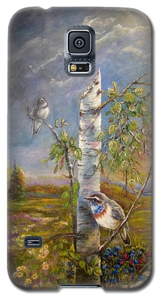 Bluethroat On The Tundra Galaxy S5 Case by Patricia Schneider Mitchell